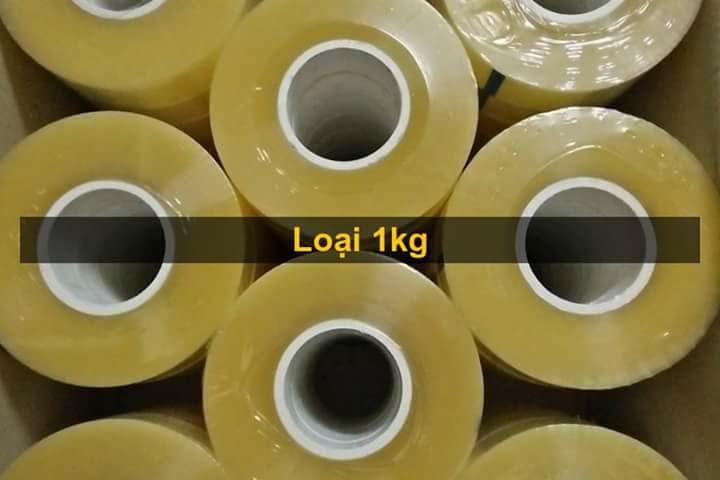 Băng dính trong 1 kg lõi siêu mỏng 3mm