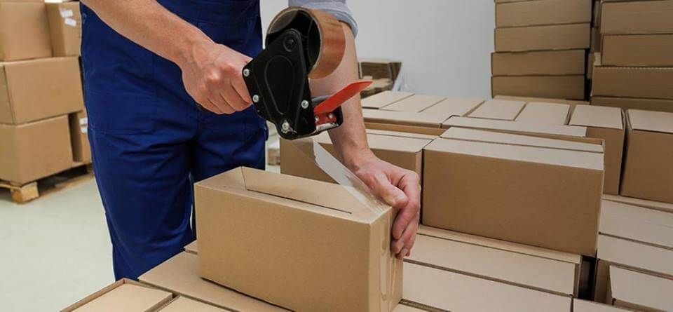 Cuộn xốp hơi đóng gói trong thùng carton