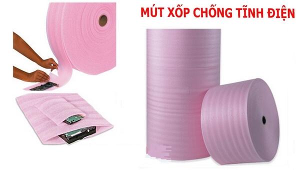 Mút xốp PE Foam màu hồng có khả năng chống tĩnh điện