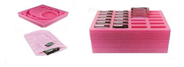 Mút xốp màu hồng có khả năng kháng tĩnh điện