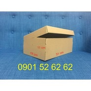 Hộp carton đựng giày kích thước 31x19x11cm