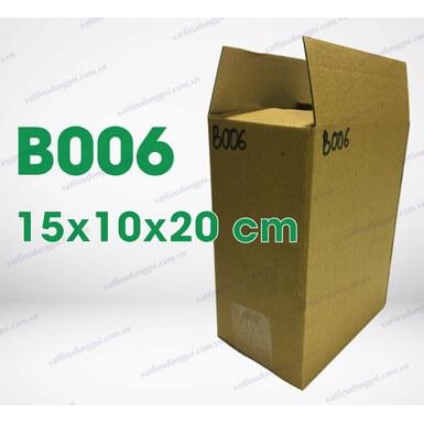 Hộp carton B006 kích thước 15x10x20cm