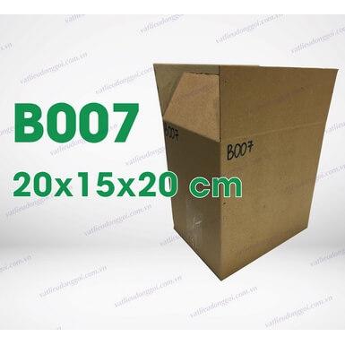 Hộp carton B007 kích thước 20x15x20cm
