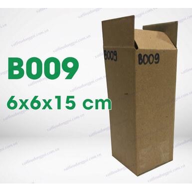 Hộp carton B009 kích thước 6x6x15cm